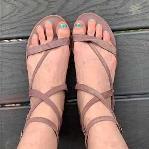 Free people wrap sandals